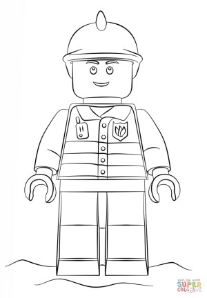 Fireman Coloring Pages Lego Fireman Coloring Page Free Printable Coloring Pages