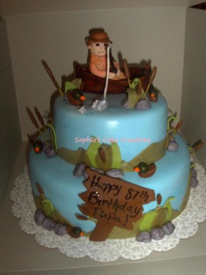 Fish Birthday Cakes Fishing Birthday Cake Cakecentral