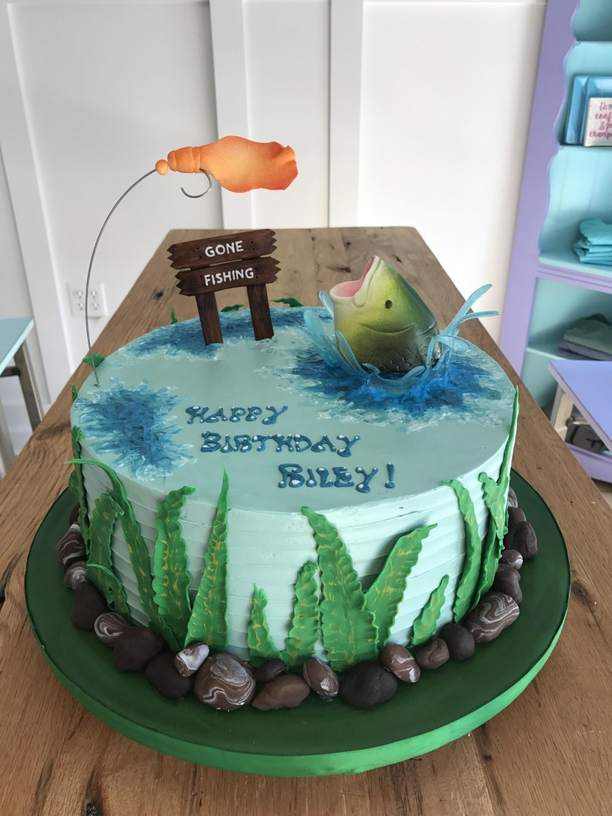 Fish Birthday Cakes Gone Fishing Birthday Cake Baking