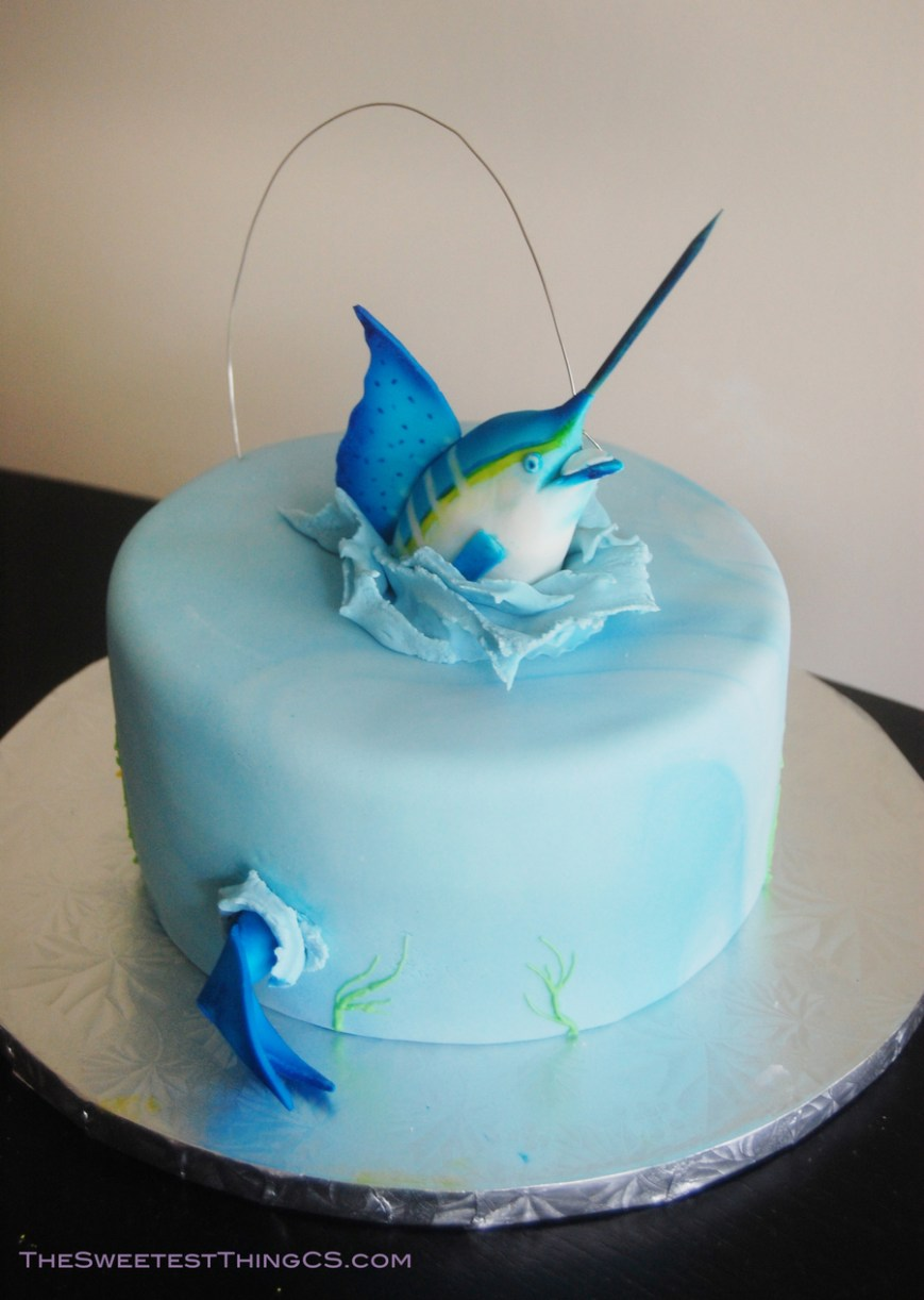 Fish Birthday Cakes Marling Fishing Birthday Cake Cakecentral