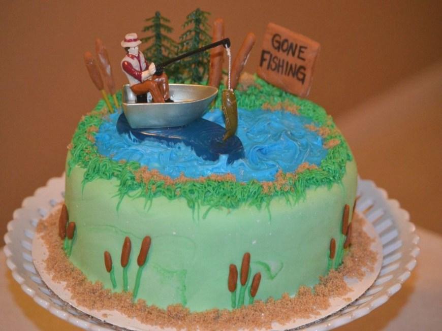 Fishing Birthday Cake Easy Fish Birthday Cakes Amazingbirthdaycakesml