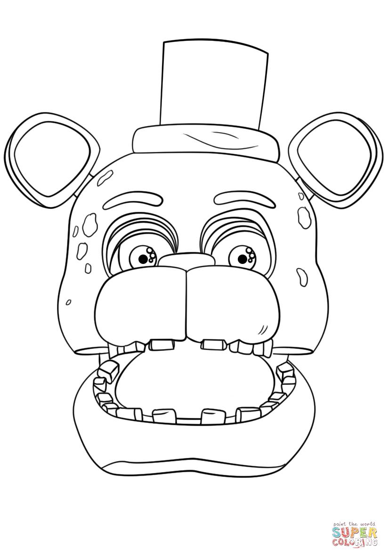 Fnaf Coloring Pages Fnaf Freddy Portrait Coloring Page Free Printable Coloring Pages