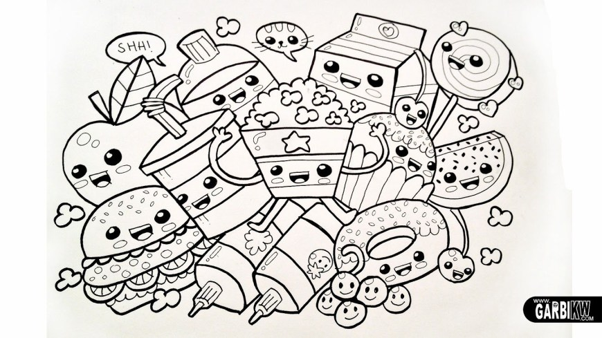 Food Coloring Pages Cartoon Food Coloring Page Coloring Pages For All Ages Coloring Home