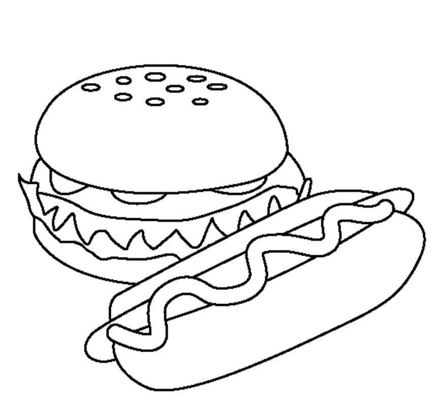 Food Coloring Pages Coloring Page Food Coloring Sheets Pages Of Printable Image Page