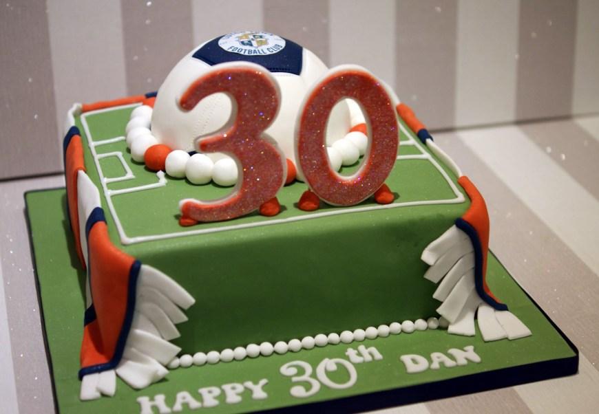 Football Birthday Cake Luton Town Football Club 30th Birthday Cake Bakealous