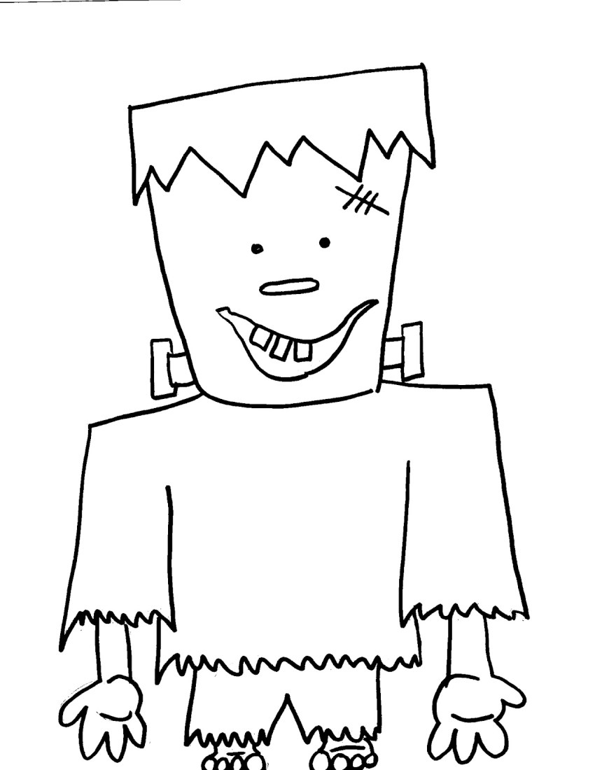 Frankenstein Coloring Pages Cute Frankenstein Coloring Page Cover Letter Sample For A Resume