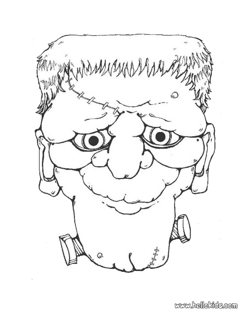 Frankenstein Coloring Pages Frankenstein Head Coloring Pages Hellokids