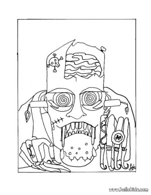 Frankenstein Coloring Pages Scary Frankenstein Coloring Pages Hellokids