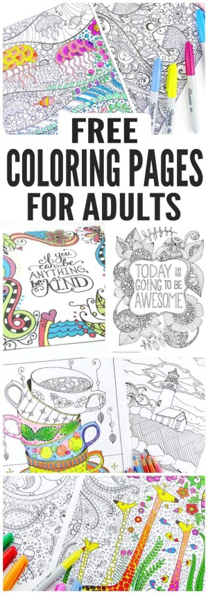 Free Coloring Pages Adults Free Coloring Pages For Adults Easy Peasy And Fun