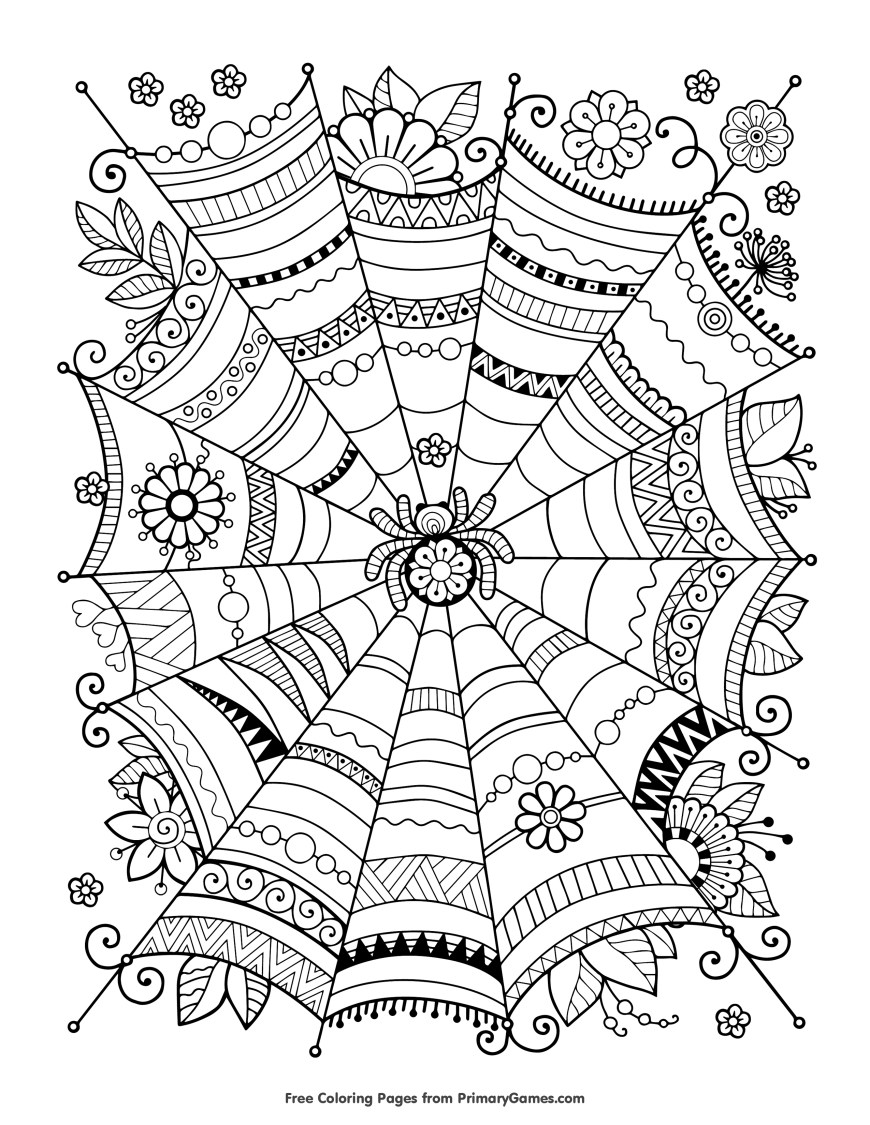 Free Coloring Pages Adults Free Halloween Coloring Pages For Adults Kids Happiness Is Homemade