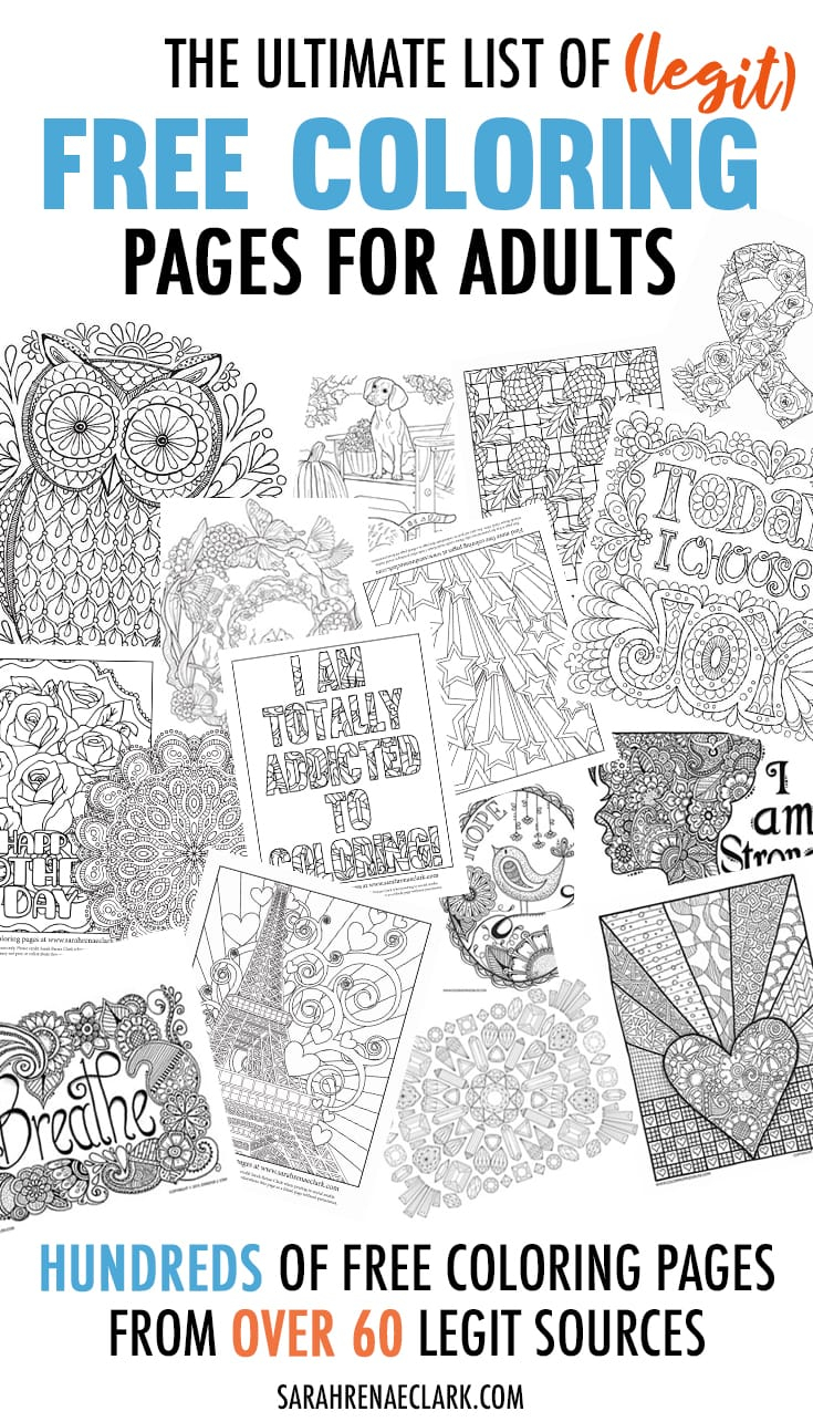 Free Coloring Pages Adults The Ultimate List Of Legit Free Coloring Pages For Adults