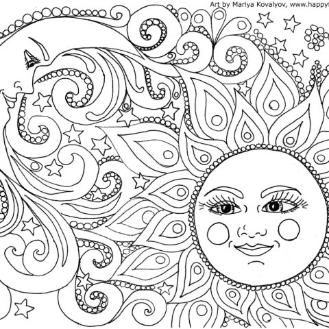 Free Coloring Pages To Print Free Adult Coloring Pages Happiness Is Homemade