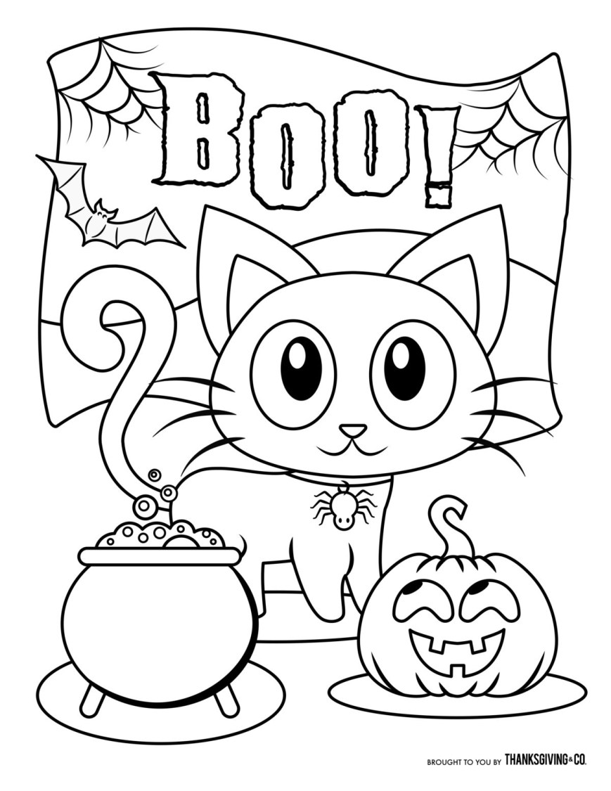 Free Halloween Coloring Pages 12 Free Halloween Coloring Pages For Kids Adults Printable