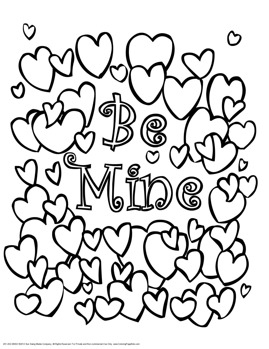 Free Printable Valentine Coloring Pages Free Printable Valentine Coloring Pages New Page For Valentines