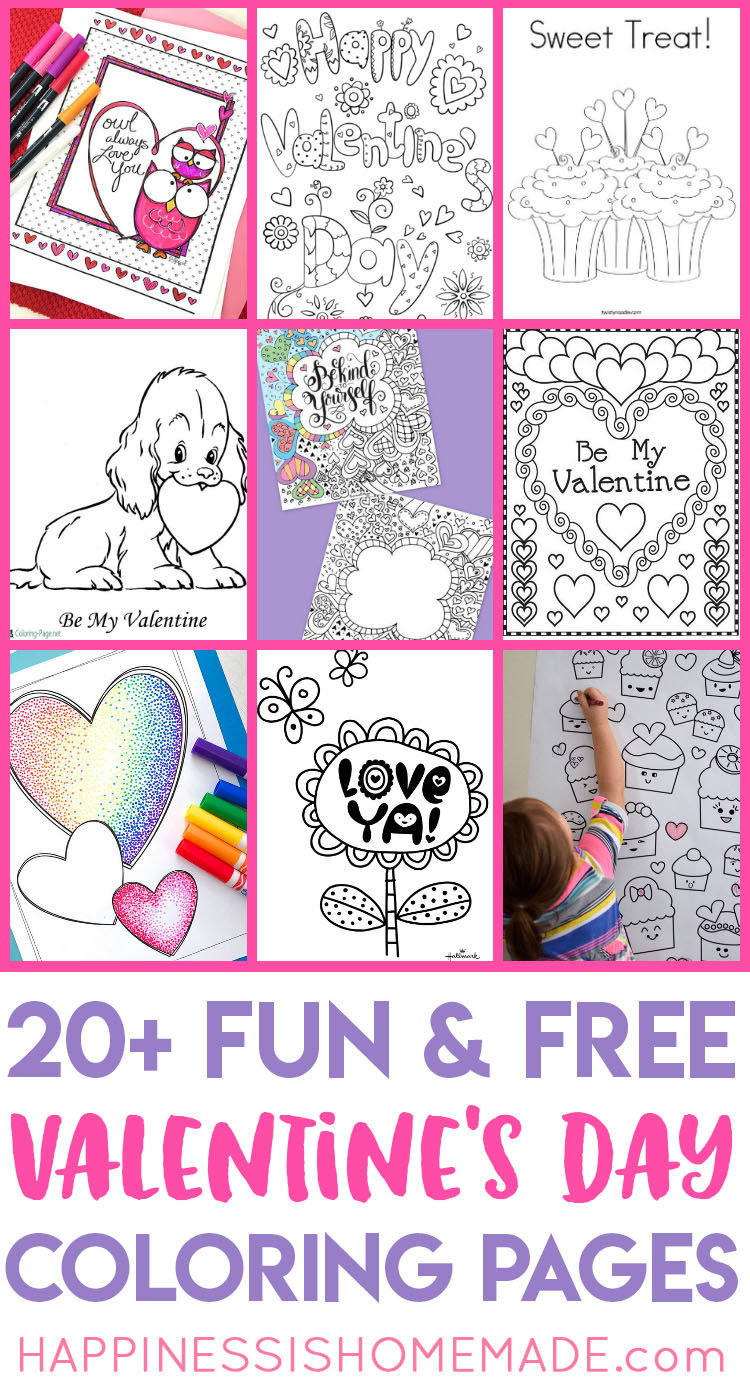 Free Printable Valentine Coloring Pages Valentines Coloring Pages Happiness Is Homemade