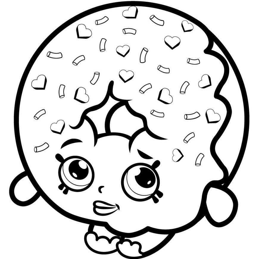 Free Shopkins Coloring Pages Color Free Shopkins Coloring Page Donut Pages Tesouroliterario