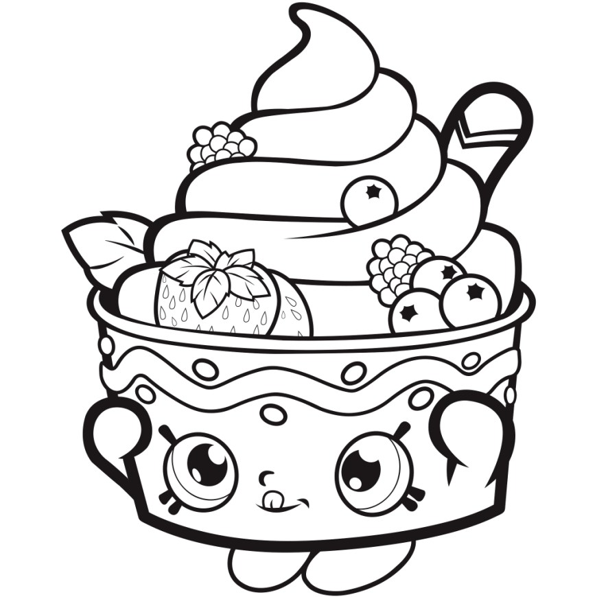 Free Shopkins Coloring Pages Coloring Page 34 Excelent Shopkins Coloring Pages