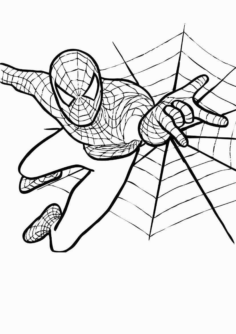 Free Spiderman Coloring Pages Free Printable Spiderman Coloring Pages For Kids For Spiderman