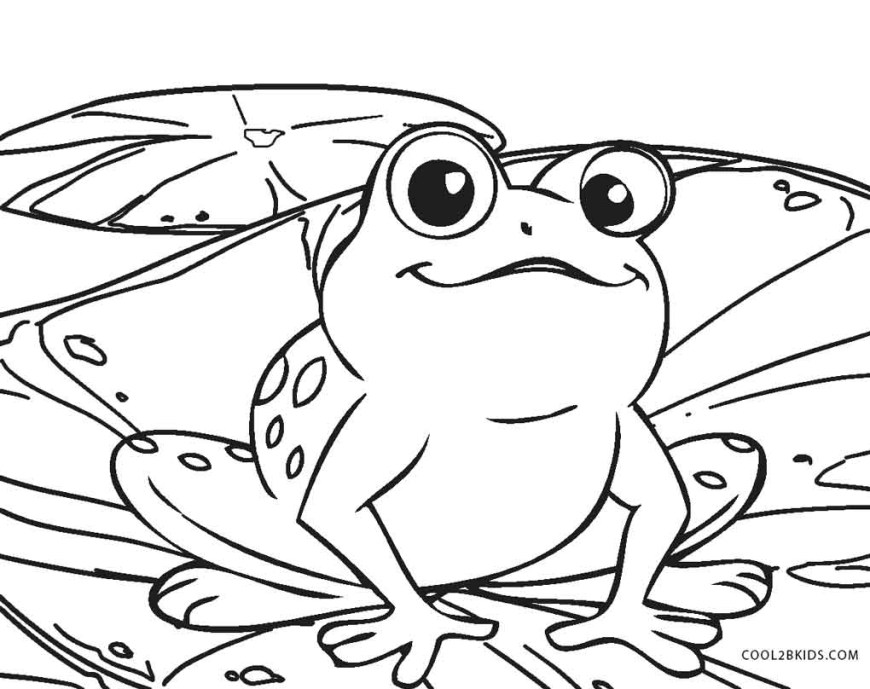 Frog Coloring Pages Free Printable Frog Coloring Pages For Kids Cool2bkids