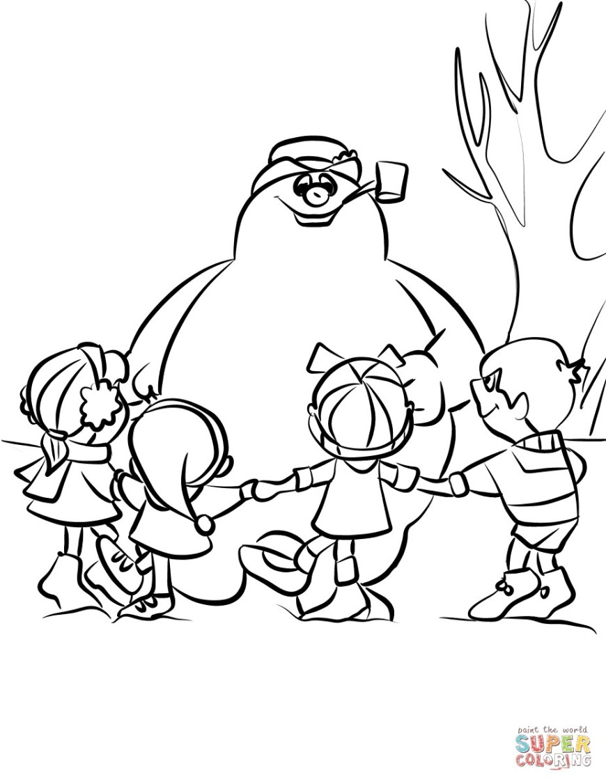 Frosty The Snowman Coloring Pages Best Frosty The Snowman Coloring Sheets Karen Page Book Childrens