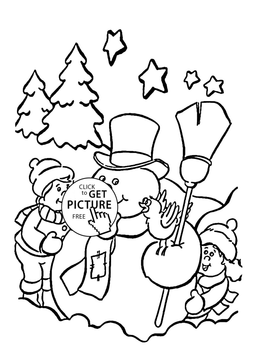 Frosty The Snowman Coloring Pages Free Printable Frosty Snowman Coloring Pages Glandigoart