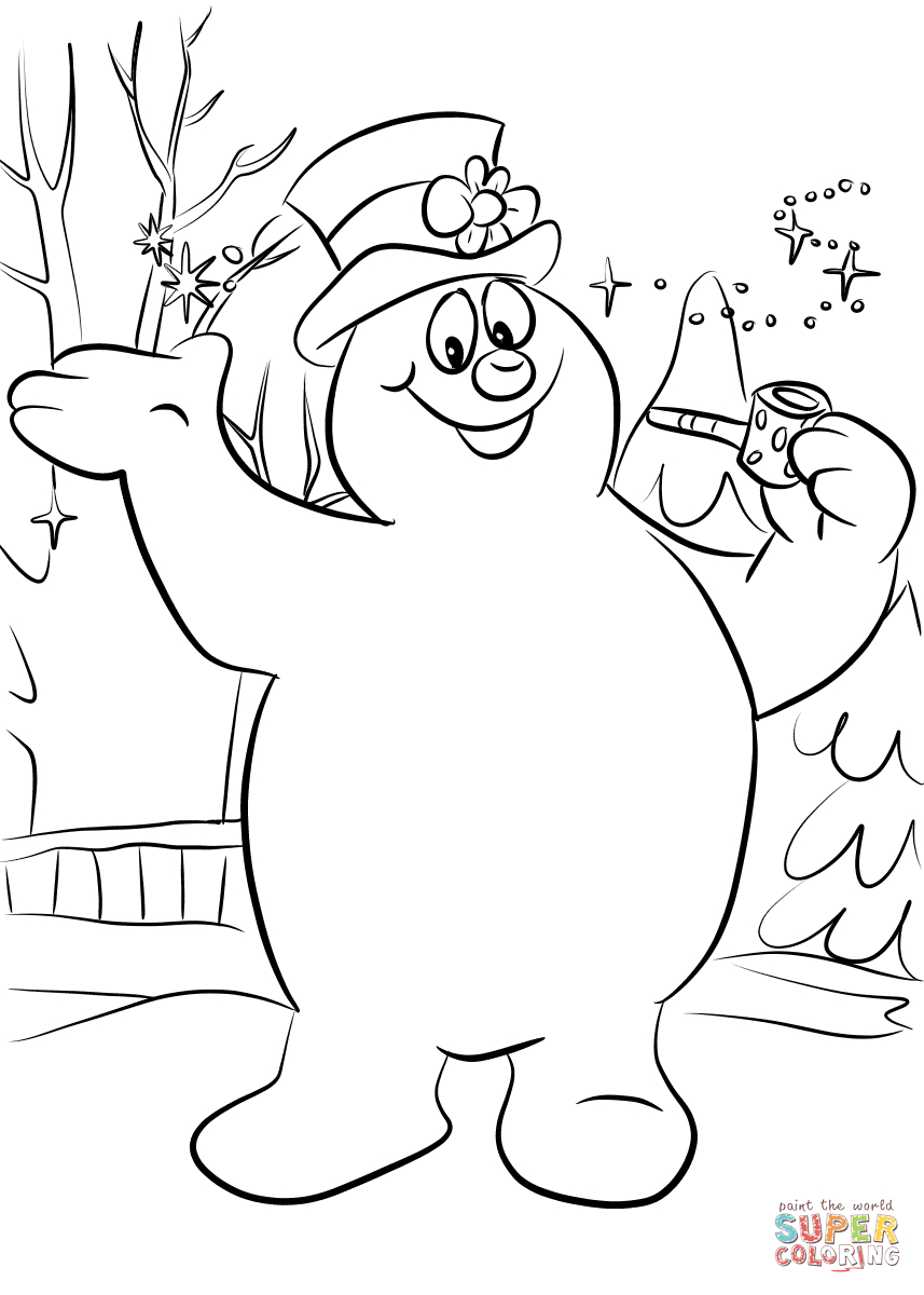 Frosty The Snowman Coloring Pages Frosty The Snowman Coloring Page Free Printable Coloring Pages