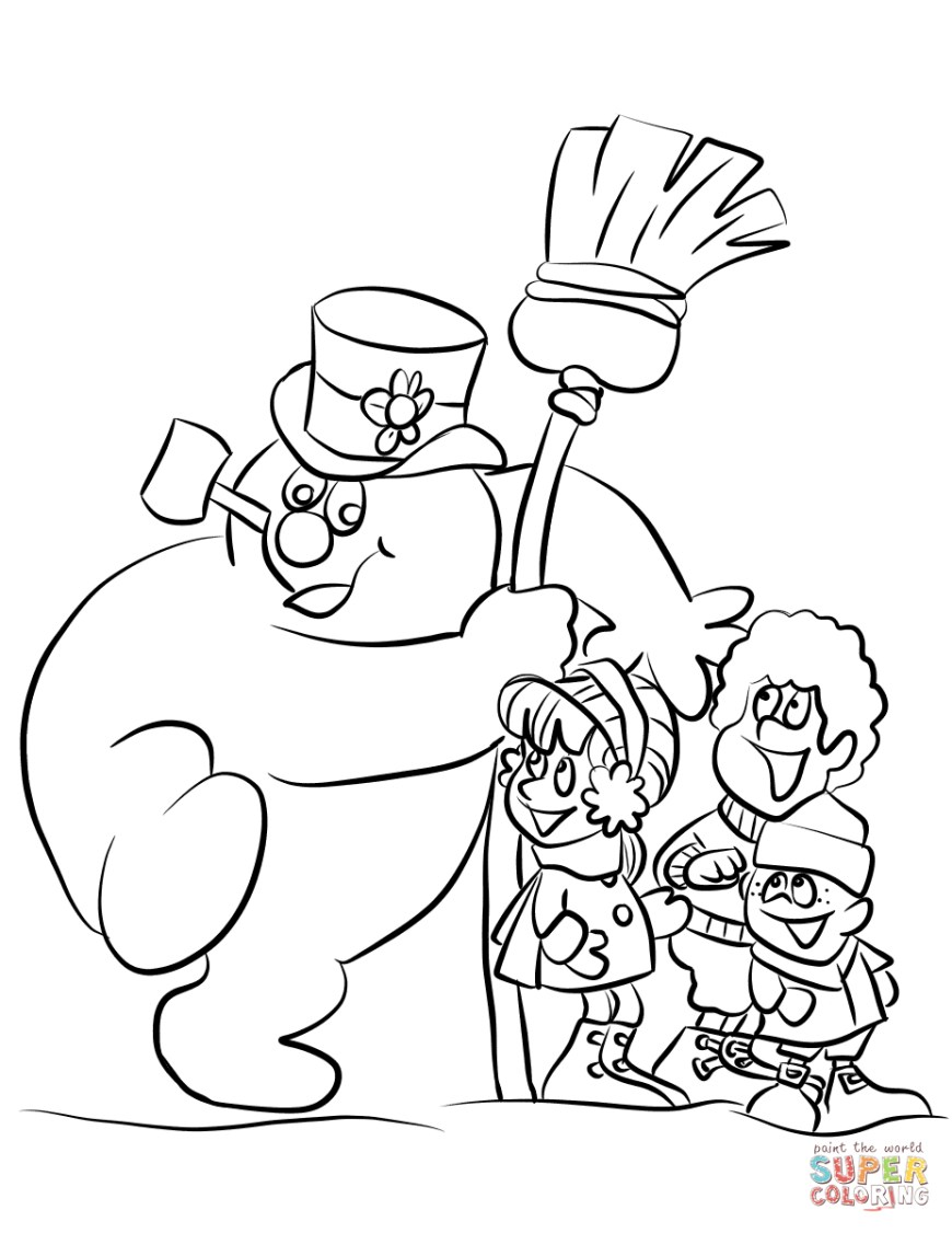 Frosty The Snowman Coloring Pages Frosty The Snowman Coloring Pages Free Coloring Pages