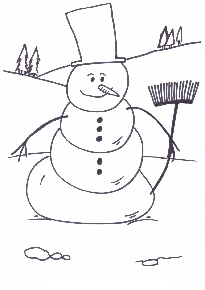 Frosty The Snowman Coloring Pages Frosty The Snowman Coloring Pages Saglik