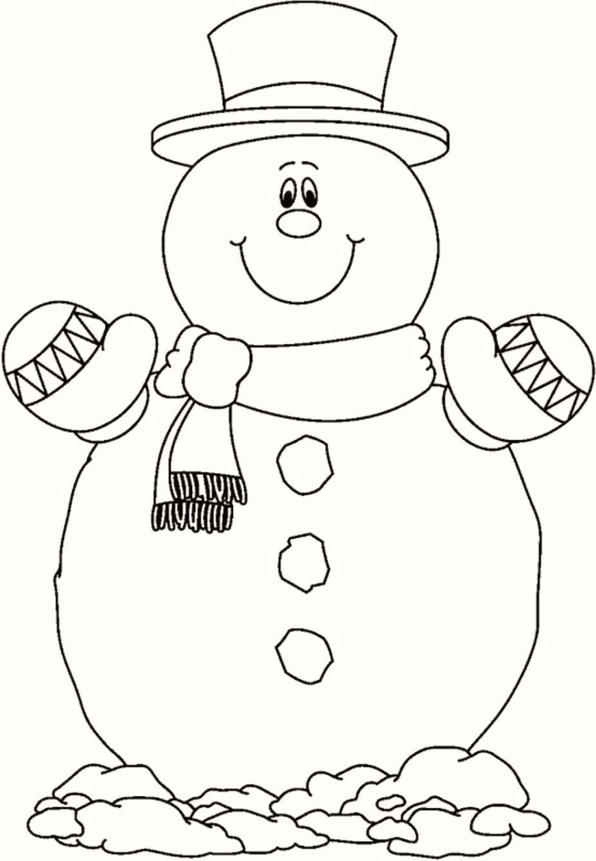 Frosty The Snowman Coloring Pages Merry Christmas Snowman Coloring Pages For Kids With Frosty The
