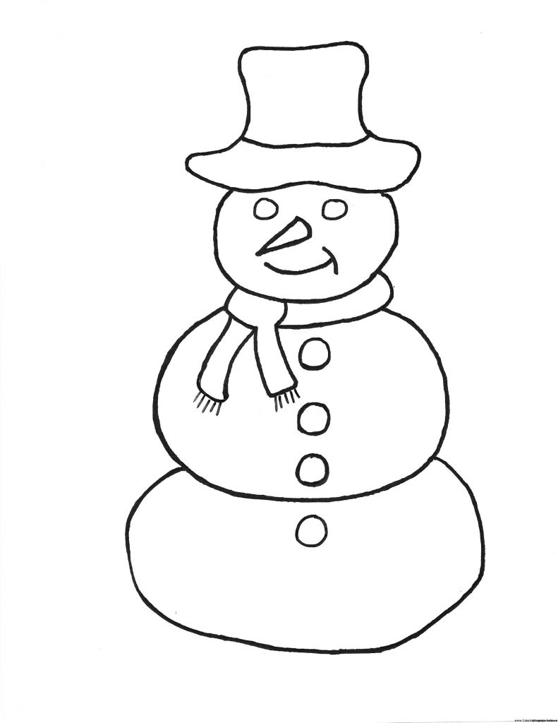 Frosty The Snowman Coloring Pages Simple Snowman Coloring Pages Frosty The Page Pdf Coloring Pages