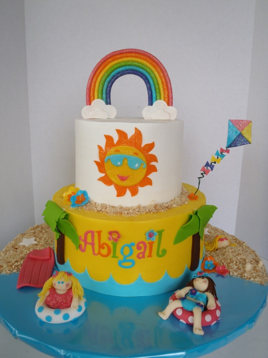 Fun Birthday Cakes Summer Fun Birthday Cake Cakecentral