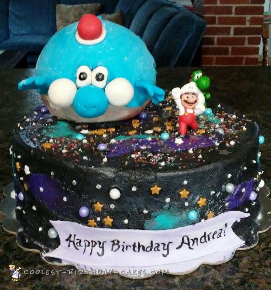Galaxy Birthday Cake Coolest Homemade Super Mario Galaxy Cake For My Daughter