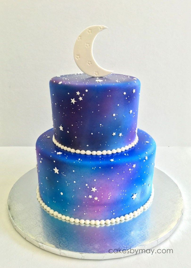 Galaxy Birthday Cake Starry Night On Cake Central Cakes In 2019 Cake Galaxy Cake