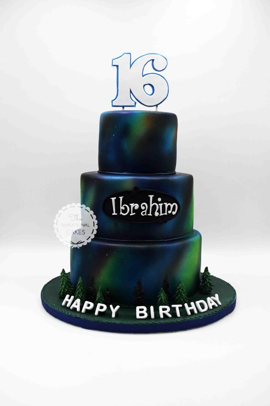 Galaxy Birthday Cake The Sensational Cakes Galaxy Aurora Borealis Theme Girl Birthday