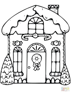 Gingerbread House Coloring Pages Gingerbread House Coloring Pages R Free Christmas For Adults Quotes