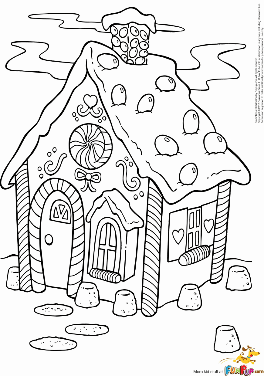 Gingerbread House Coloring Pages Gingerbread House Coloring Pages To Print Free Lovely Gingerbread