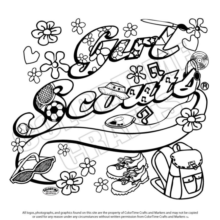 Girl Scout Coloring Pages Coloring Pages Girl Scout Coloring Sheets Astonishing Top