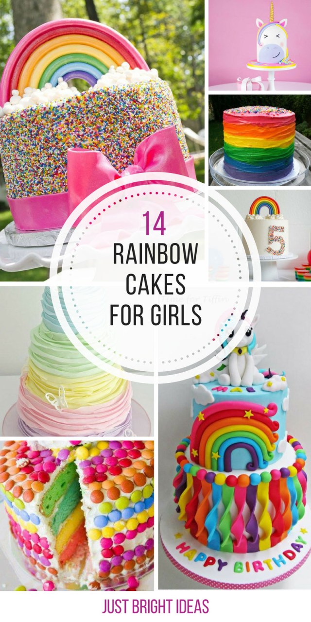 Girls Birthday Cakes 14 Totally Magical Rainbow Birthday Cakes For Girls