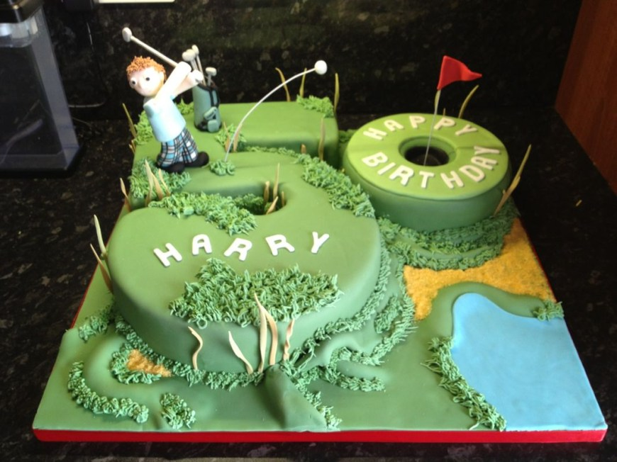 Golf Birthday Cakes 50th Golf Birthday Cakes For Men This Cake Was Made For A 50th