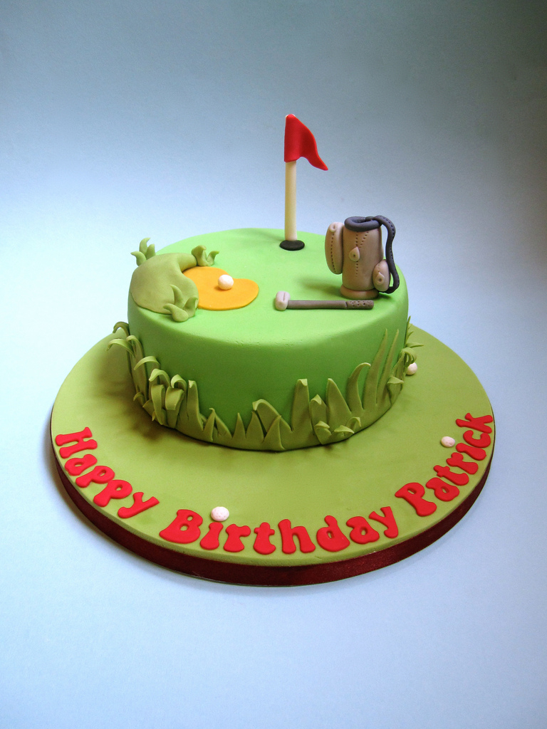 Golf Birthday Cakes Cake A Themed For My Frie Flickr