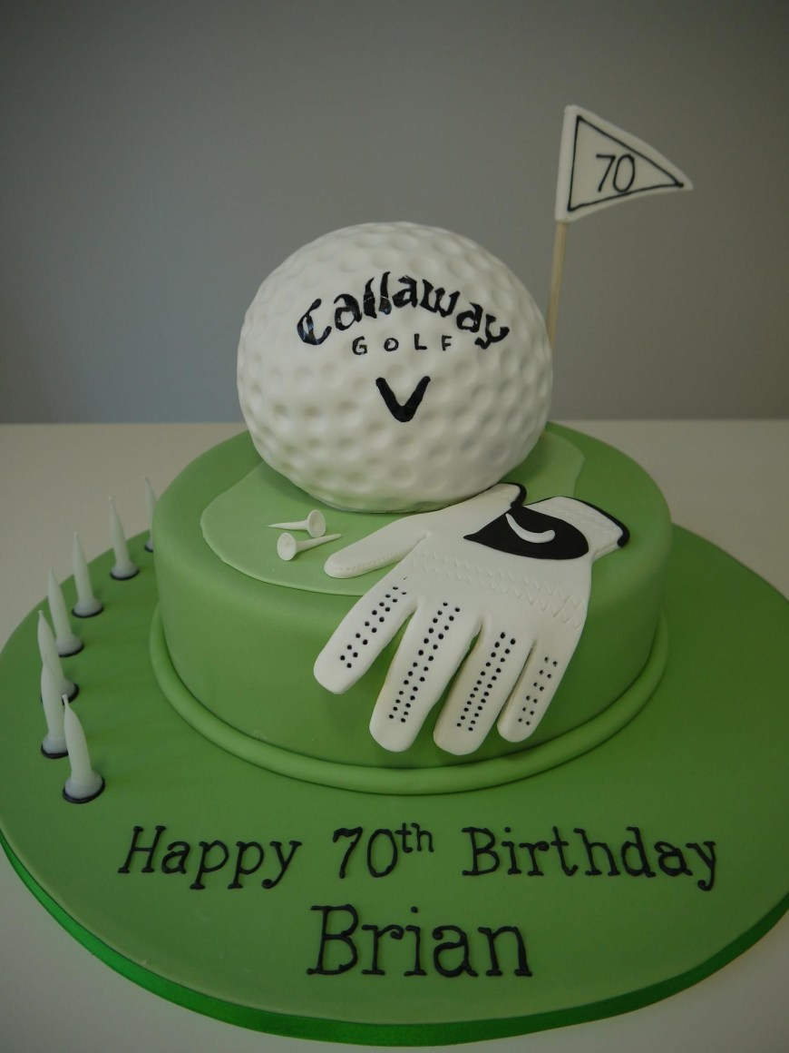Golf Birthday Cakes Golf Cake Pastel De Golf Pat Cake