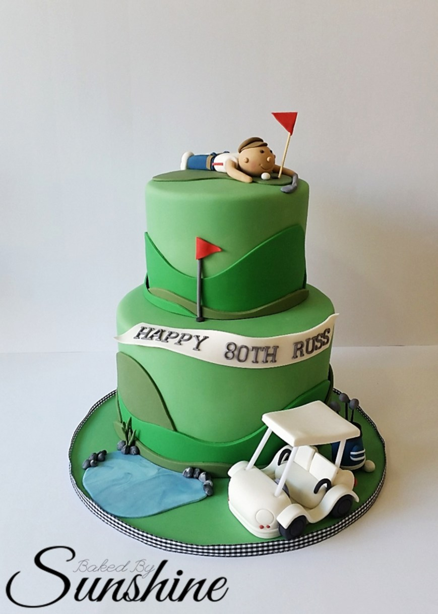 Golf Birthday Cakes Surprise Golf Themed Cake For An 80th Birthday Golf Cake