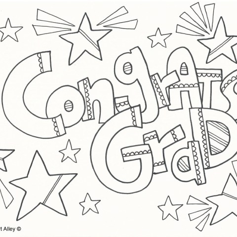 Graduation Coloring Pages Graduation Coloring Pages Doodle Art Alley
