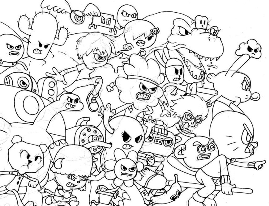 Gumball Coloring Pages Gumball Coloring Pages 5h7k All Characters From Amazing World Of