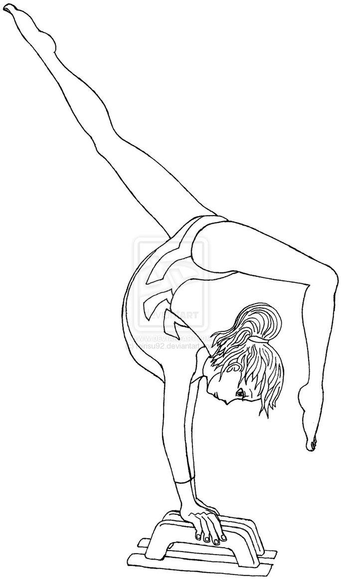 Gymnastics Coloring Pages Great Gymnastics Coloring Pages 6050 Gymnastics Coloring Pages