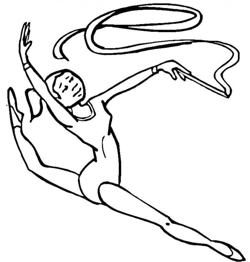Gymnastics Coloring Pages Printable Gymnastics Coloring Pages Coloring Home