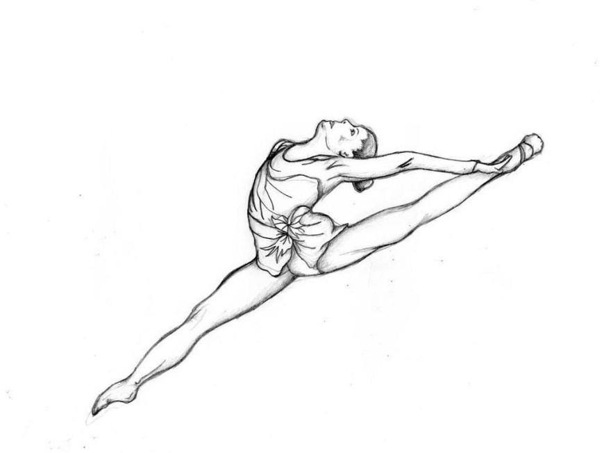 Gymnastics Coloring Pages Realistic Gymnastics Coloring Pages Book Sketch Kid Colorings