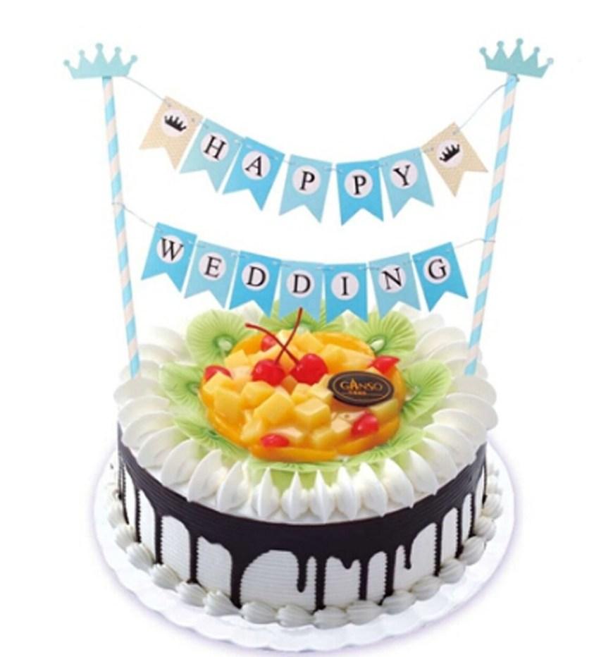 Happy Birthday Cake Banner Buy Blue Happy Birthday Cake Bunting Banner Cake Topper Boy Ba