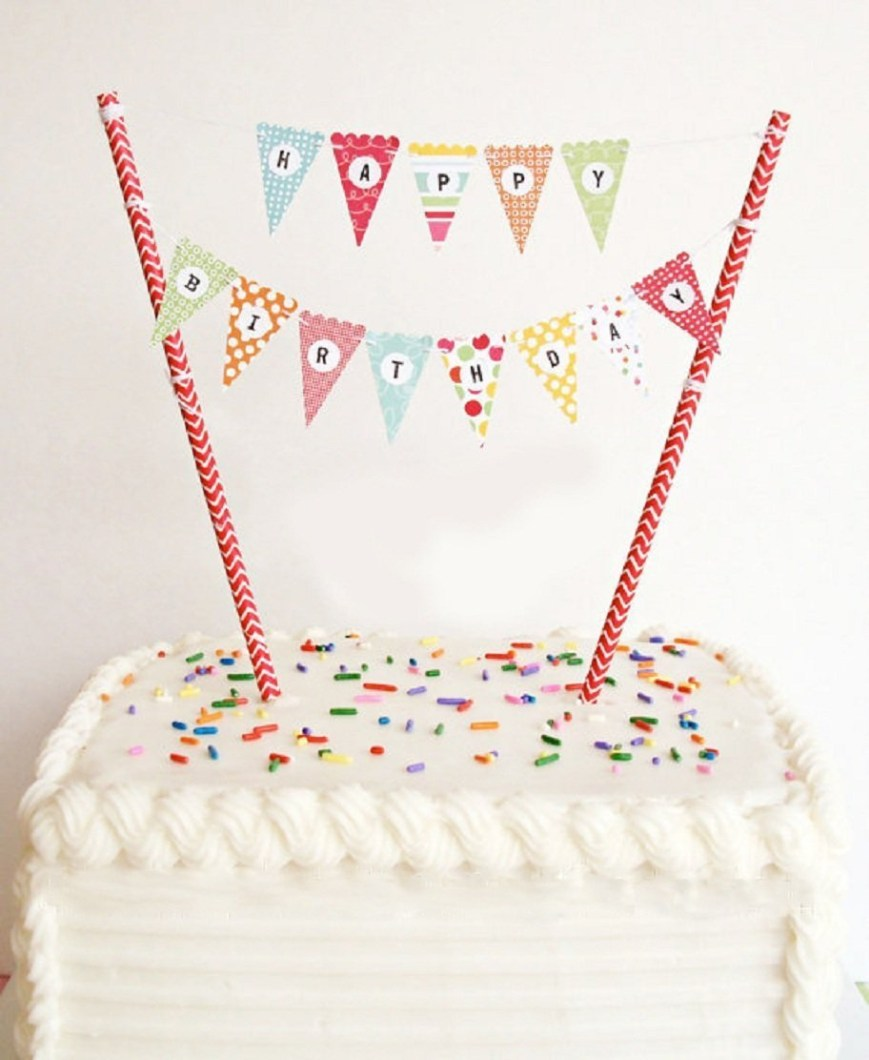 Happy Birthday Cake Banner Buy Elsky Mini Happy Birthday Cake Bunting Banner Cake Topper