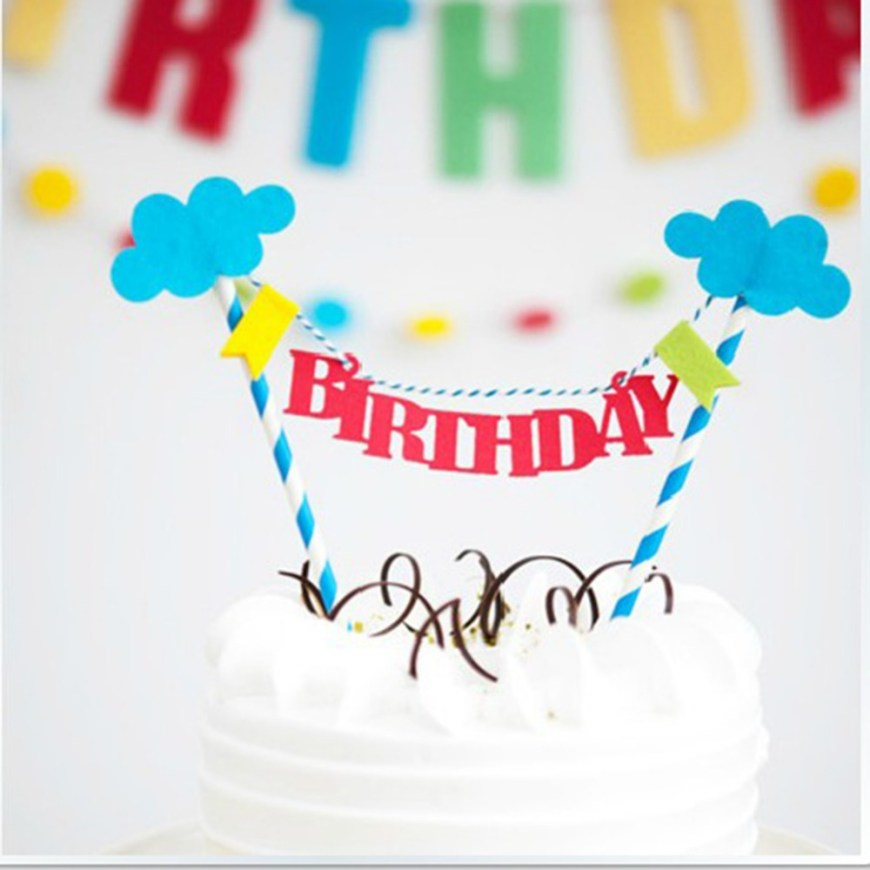 Happy Birthday Cake Banner Creative Happy Birthday Cloud Bunting Banner Kit Topper Picks